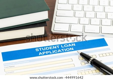 Student Loan Application Form Pen Keyboard Stock Photo (Royalty Free - students loan application form