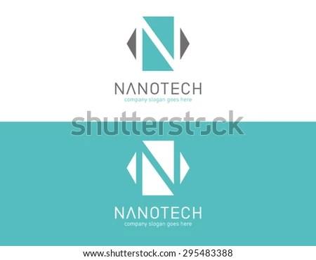 Logo Template Bio Technology Nano Laboratory Stock Vector (2018 - Company Bio Template
