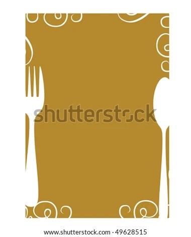 Blank Menu Template Stock Vector 49628515 - Shutterstock