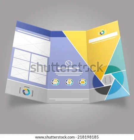 Shutter Trifold Brochure Template Stock Photo (Photo, Vector
