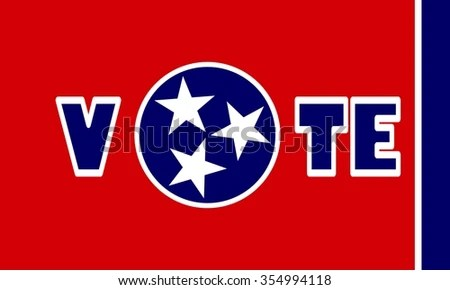 Vote Word On Tennessee Flag Background Stock Vector 354994118 - word flag