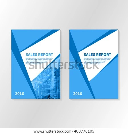 Business Report Booklet Cover Brochure Layout Stock Vector (2018