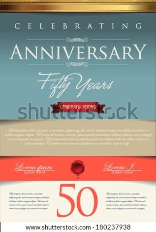 Anniversary Certificate Template Stock Vector 180237938 - Shutterstock