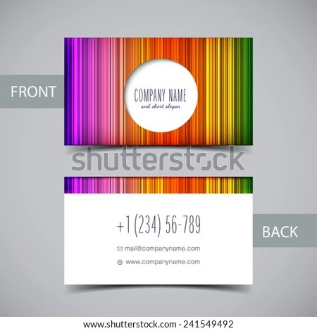 Vector Abstract Rainbow Business Card Temlate Stock Vector 241549492