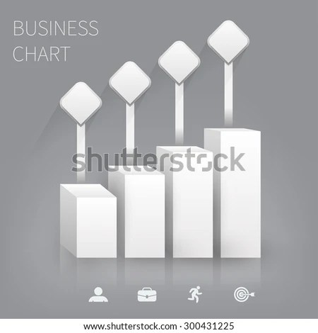 Business Bar Graph Blank Template Infographic Stock Vector 300431225 - bar graph blank template