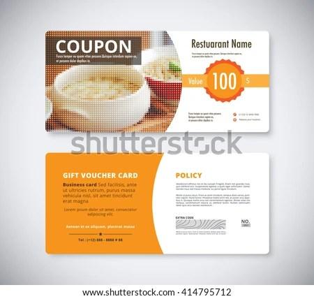 Gift Coupon Voucher Template Restaurant Flyer Stock Vector (2018