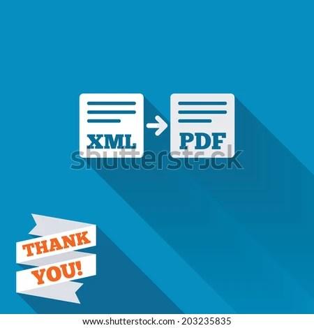 Export XML PDF Icon File Document Stock Photo (Photo, Vector