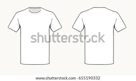 Blank White Tshirt Template Stock Vector 655190332 - Shutterstock - t shirt template
