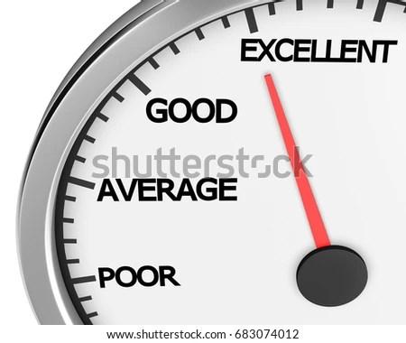 Excellent Speedometer Concept Image Excellent Customer Stock