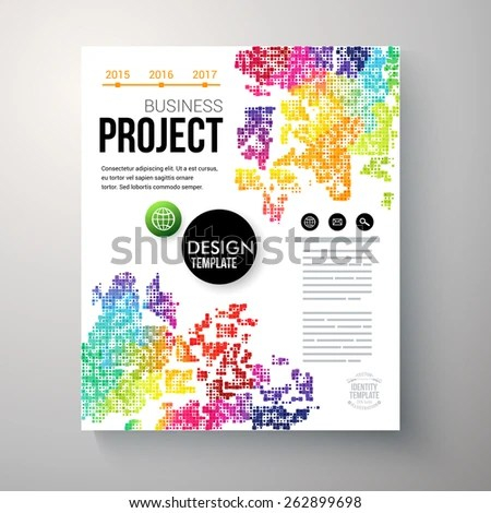 Design Template Business Project Colorful Rainbow Stock Vector - Project Design Template
