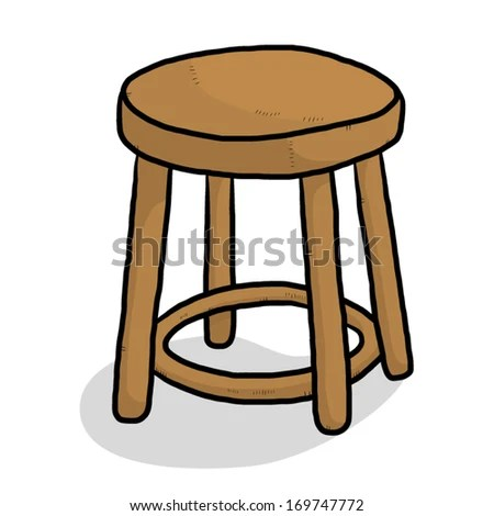 Wooden Chair Cartoon Vector Illustration Isolated Stock