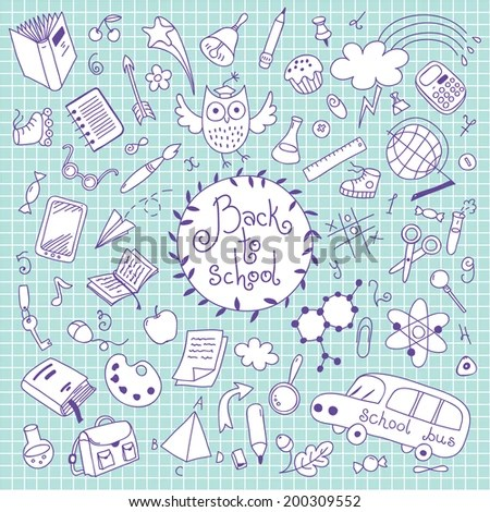 Back School Background Sketches Design Elements Stock Vector - background sketches