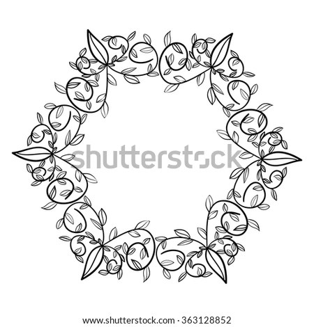 Hand Drawn Flower Mandala Frame Cards Stock Photo (Photo, Vector - frame for cards