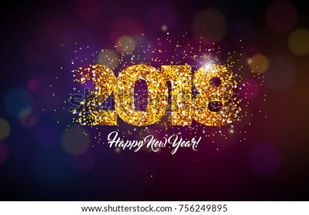 2018 Happy New Year Background Illustration Stock Vector 756249895