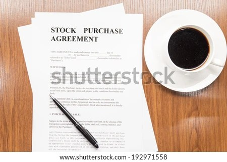 Stock Purchase Agreement Stock Photo (Royalty Free) 192971558 - Stock Purchase Agreement