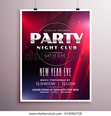 Nightclub Party Flyer Template Design Event Stock Vector HD (Royalty