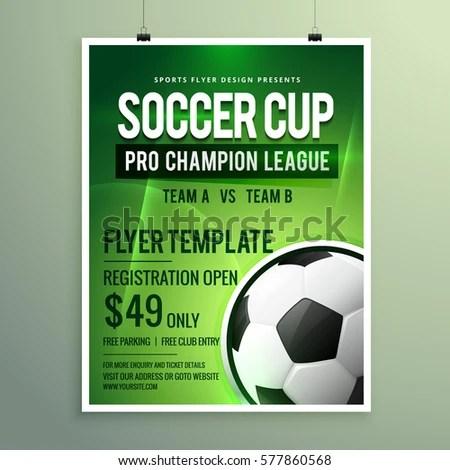 Soccer League Sports Event Flyer Design Stock Vector 577860568