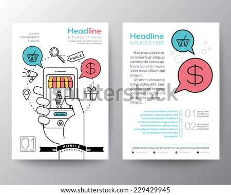 Brochure Flyer Design Layout Template A 4 Stock Vector 229429945 - marketing brochure