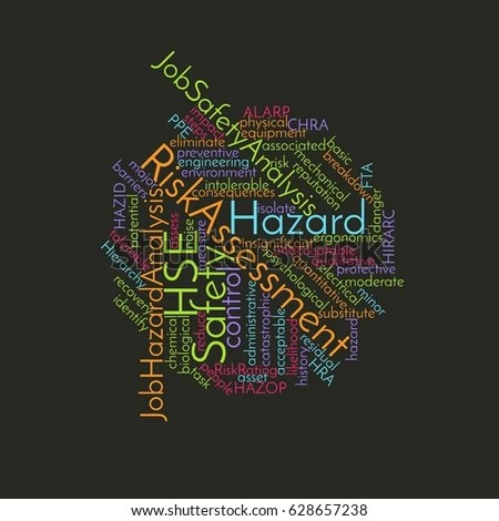 Health Safety Environment HSE Safety Word Stock Illustration - health safety risk assessment