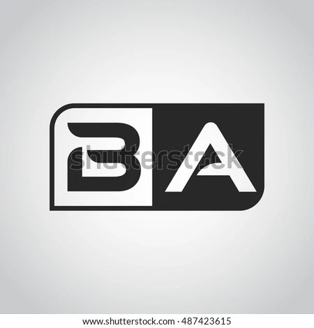 Abbreviations Black Letters Stands Name Letters Stock Illustration - ba stands for