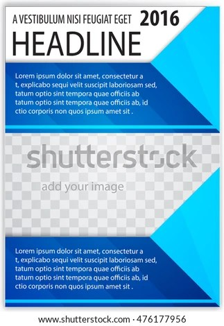 Blue Abstract Background Cover Design Template Stock Vector