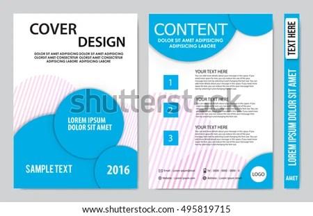 Brochure Design Template Vector Flyers Annual Stock Photo (Photo