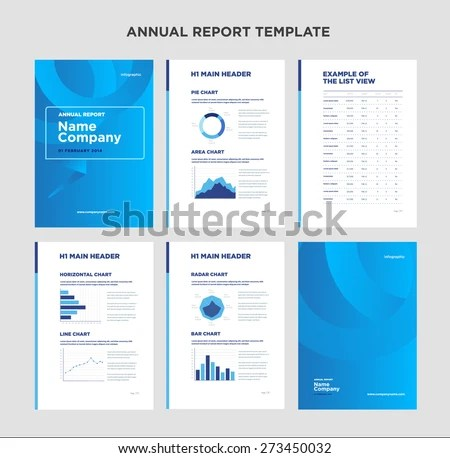 Modern Annual Report Template Cover Design Stock Photo (Photo - annual report template design