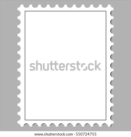Clean Postage Stamp Template Icon On Stock Vector (Royalty Free - stamp template