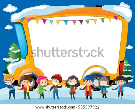 Certificate Template Children Winter Illustration Stock Vector - certificate template for kids