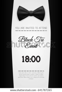 A4 Elegant Black Tie Event Invitation Stock Vector