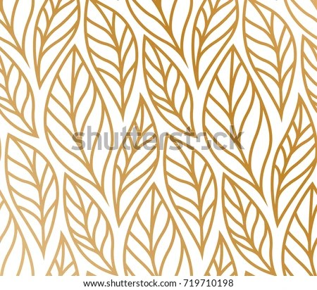 Minimalist Wallpaper Fall Vector Illustration Leaves Pattern Floral Organic Stock