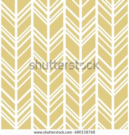 Chevron Background Gold White Seamless Vector Stock Photo (Photo