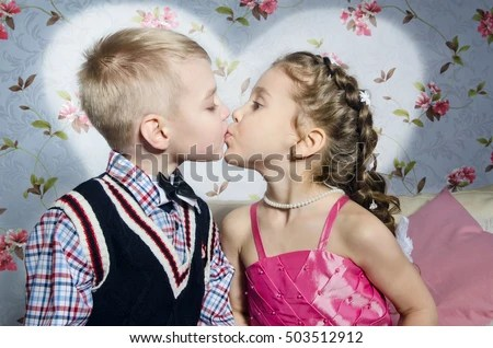 Cute Stylish Child Girl Wallpaper Kids Kissing Stock Images Royalty Free Images Amp Vectors
