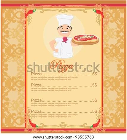 Sample Pizza Menu Template Breakfast Menu Template Creative And - sample menu template