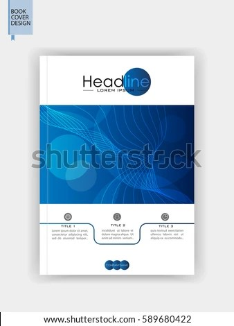 Book Cover Design A 4 Blue Brochure Stock Vector HD (Royalty Free