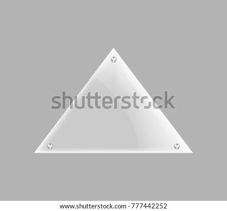 Triangle Blank Glass Plate Isolated Icon Stock Vector 777442252 - blank pyramid template