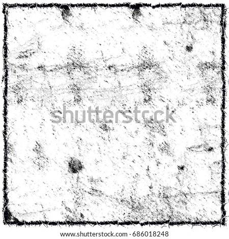 Black White Grunge Background Black Border Stock Illustration - black border background