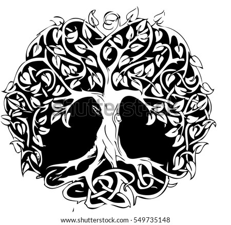 Circle Tattoo Tree Design Stock Vector (2018) 549735148 - Shutterstock