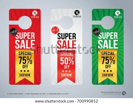 Door Hanger Design Template Hotel Knob Stock Vector 700990852 - door hanger design template