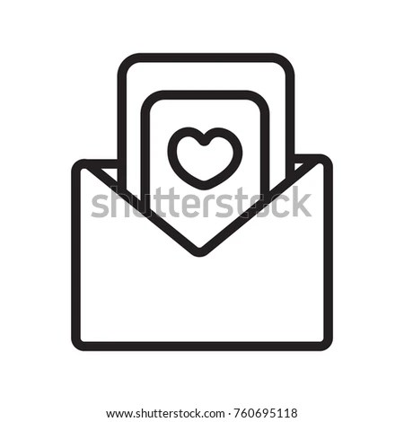 Wedding Invitation Letter Icon Outline Stock Vector HD (Royalty Free