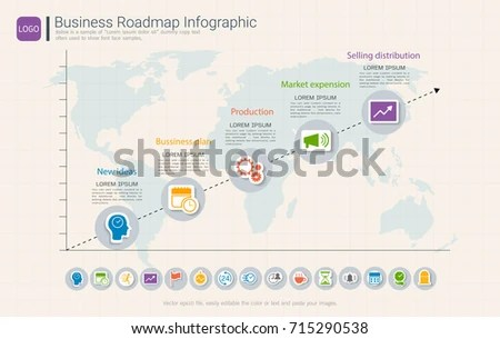 Roadmap Timeline Infographic Design Template Key Stock Photo (Photo