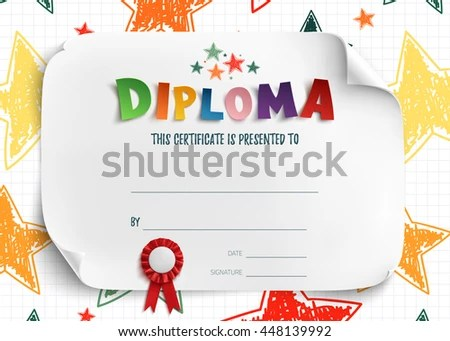 Kids Certificate Stock Images, Royalty-Free Images \ Vectors - certificate template for kids
