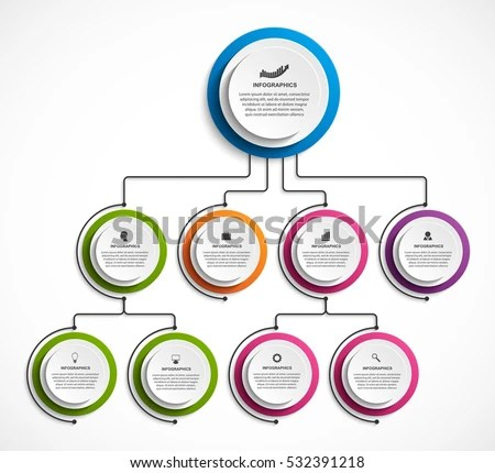 Infographic Design Organization Chart Template Stock Vector (2018 - template organization chart