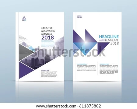 Annual Report Cover Flyer Presentation Brochure Stock Vector