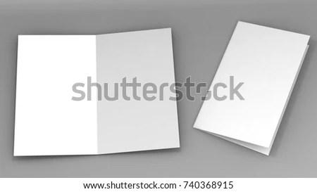 A 3 Halffold Brochure Blank White Template Stock Illustration
