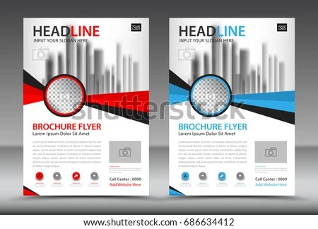 Business Brochure Flyer Template Annual Report Stock Vector (2018