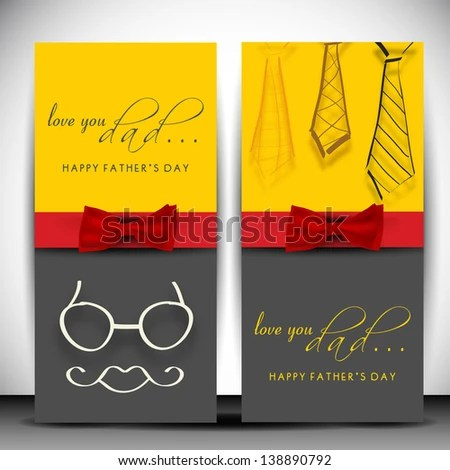 Happy Fathers Day flyer or banner by Allies Interactive, via - video brochure template