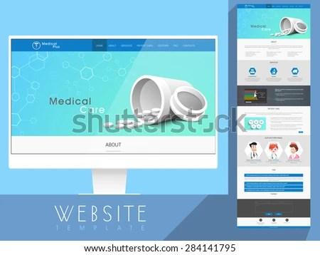 Creative Website Template Layout Medicines Health Stock Vector - interactive website template