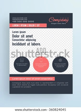 Stylish One Page Flyer Banner Brochure Stock Vector (Royalty Free