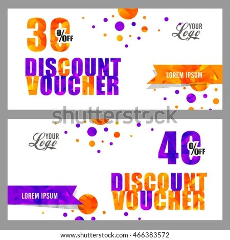 Creative Discount Voucher Gift Coupon Template Stock Vector - gift coupon template